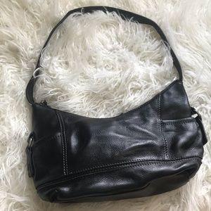 Clark's black leather shoulder bag EUC